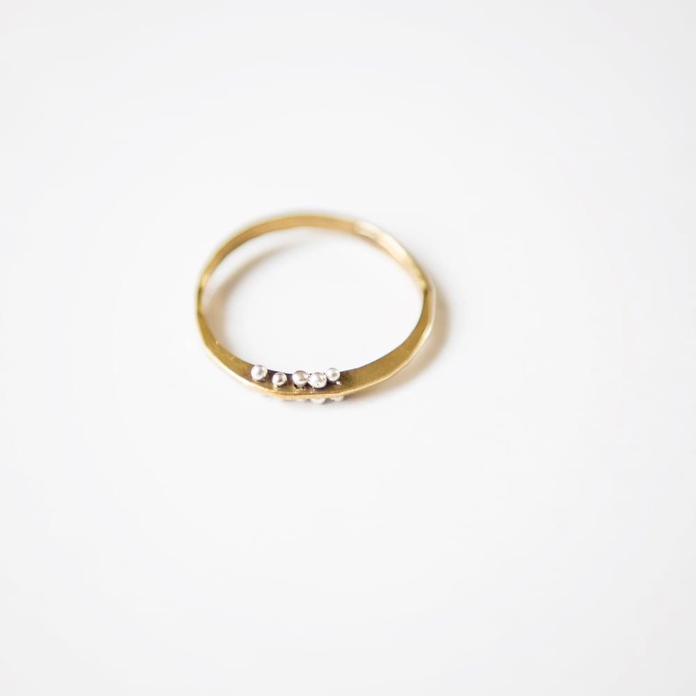 Image of Petite bit gold filled ring