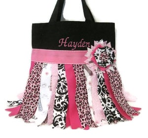 Image of Pink Rag Skirt Tote bag