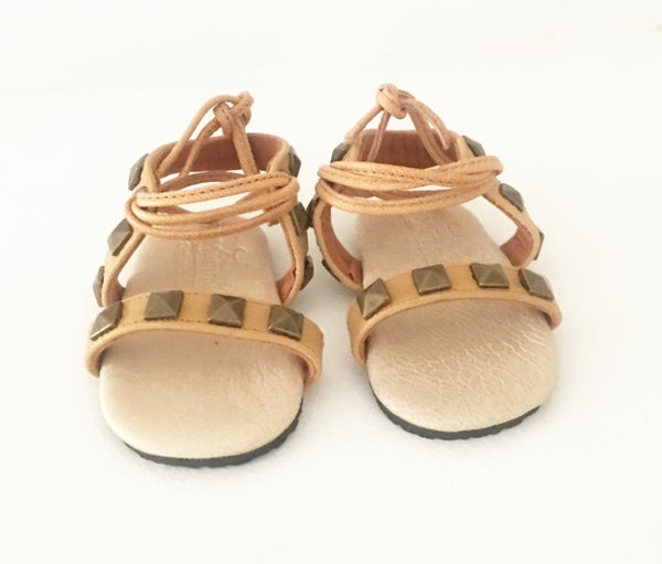 Image of Indiah leather studded sandal - Tan