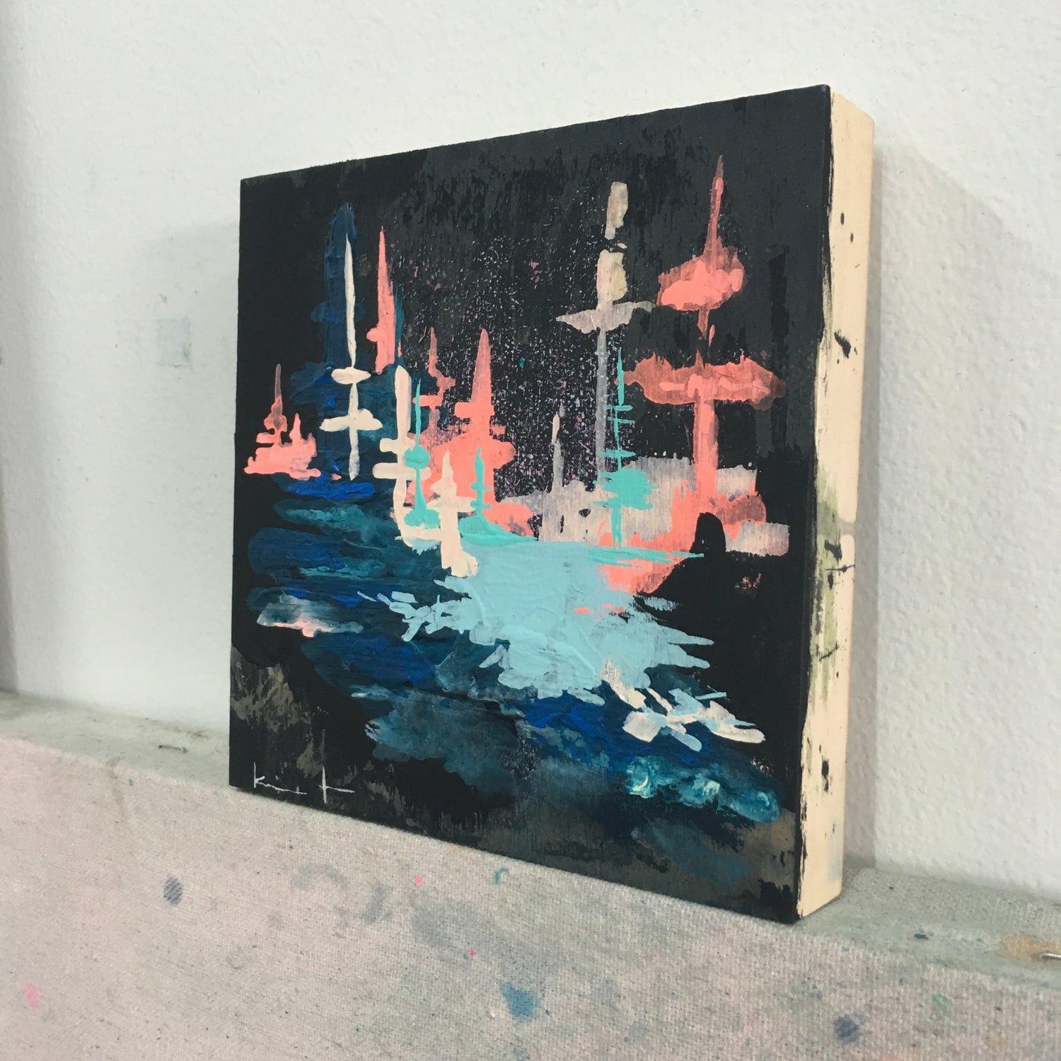 Image of tiny painting no. 43 (black, marine, sky)