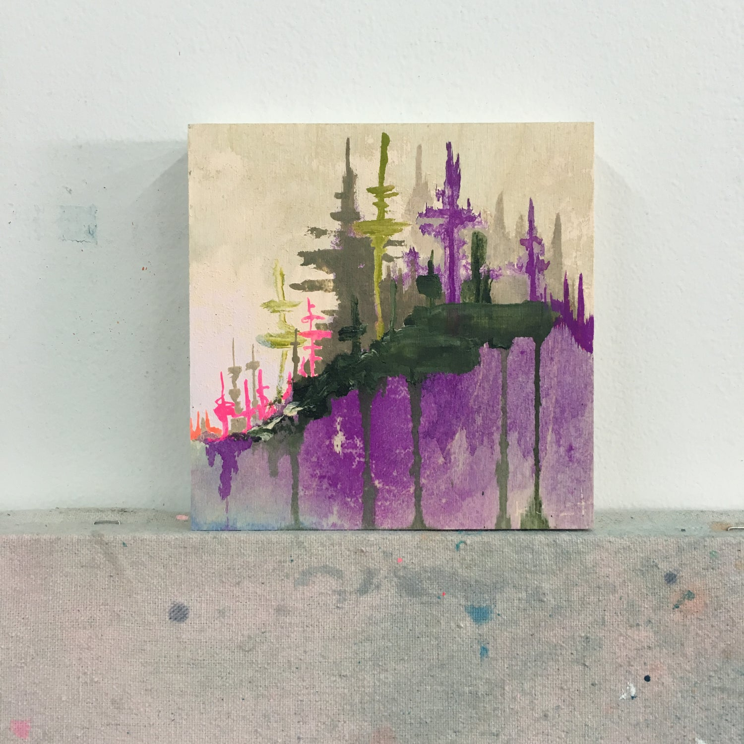 Image of tiny painting no. 44 (violet, sap, opera)