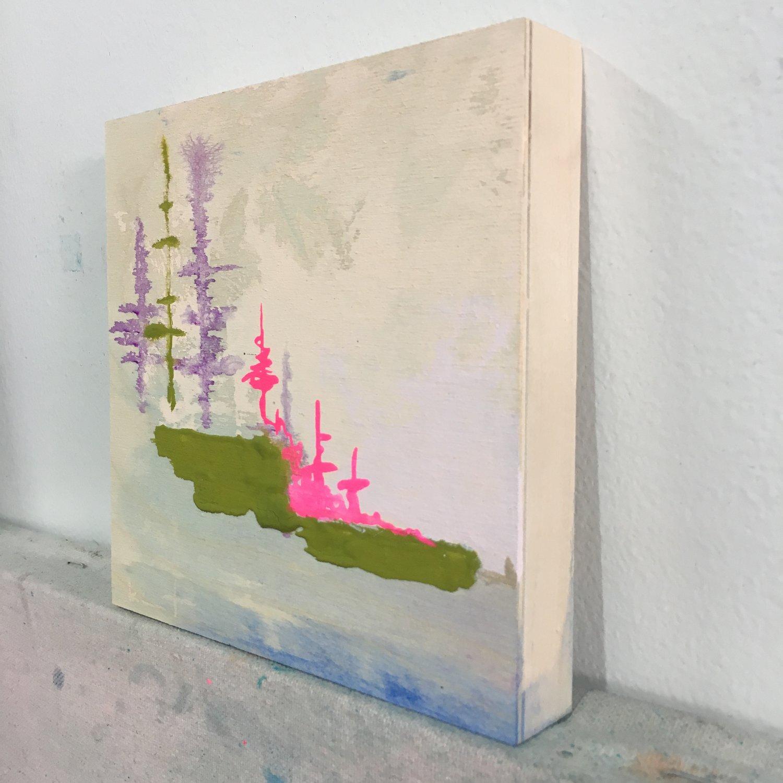 Image of tiny painting no. 47 (cream, opera, olive)