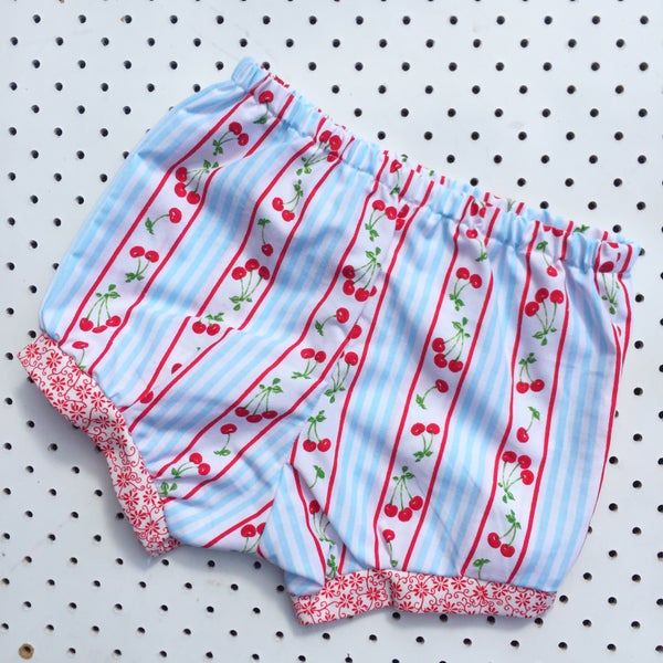 Image of Baggy bloomers - size 1-2yrs - cherry stripes