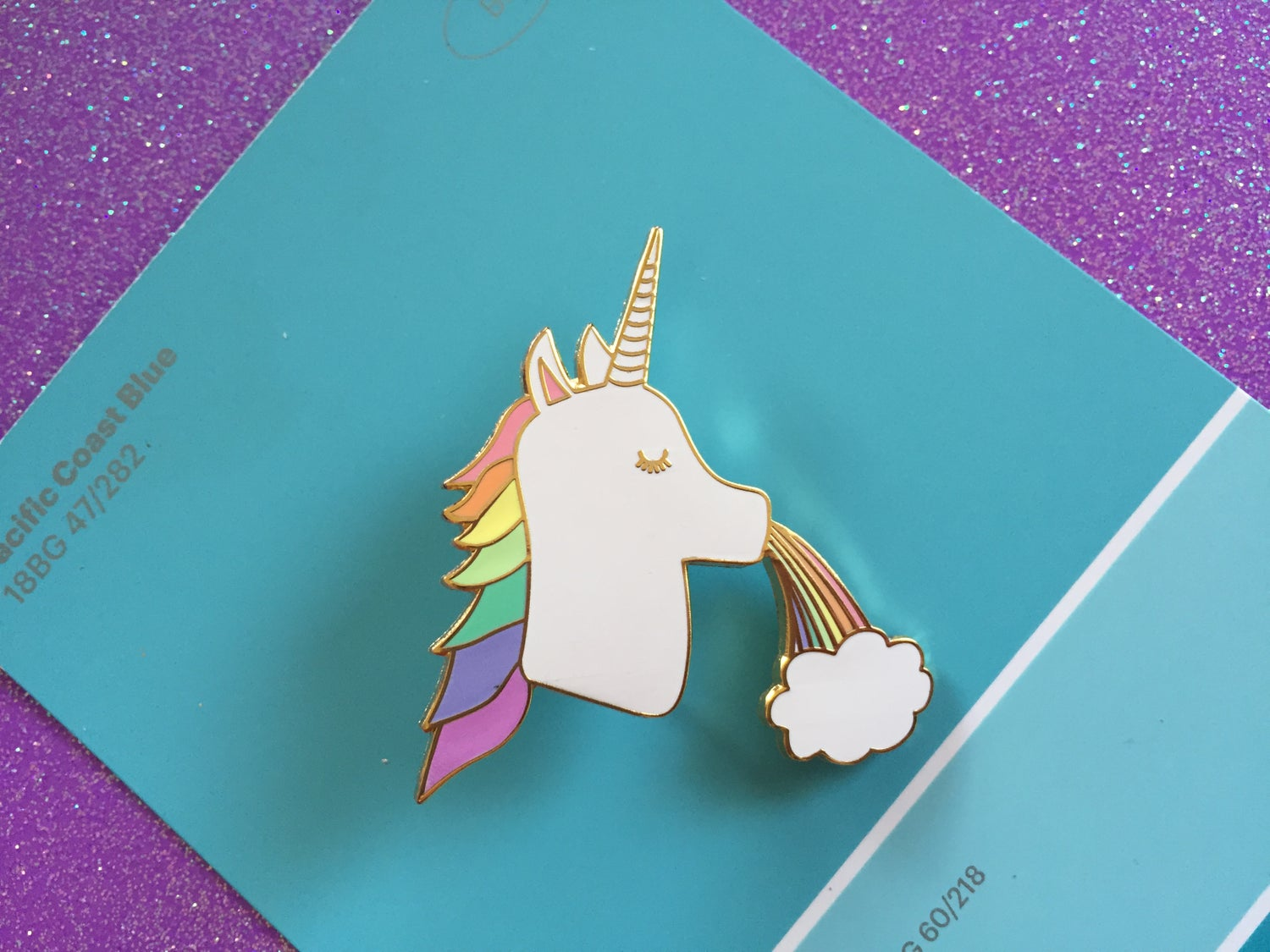 Image of Unicorn Rainbow Enamel Pin
