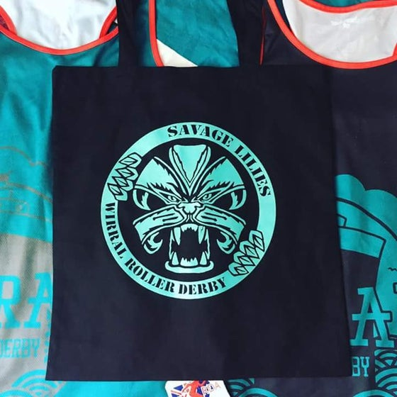 Image of WRD Savage Lilie & Pack Animal logo tote bag