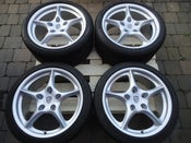 "Image of Genuine Porsche Carrera BBS 5 Spoke 18"" 5x130 Alloy Wheels"