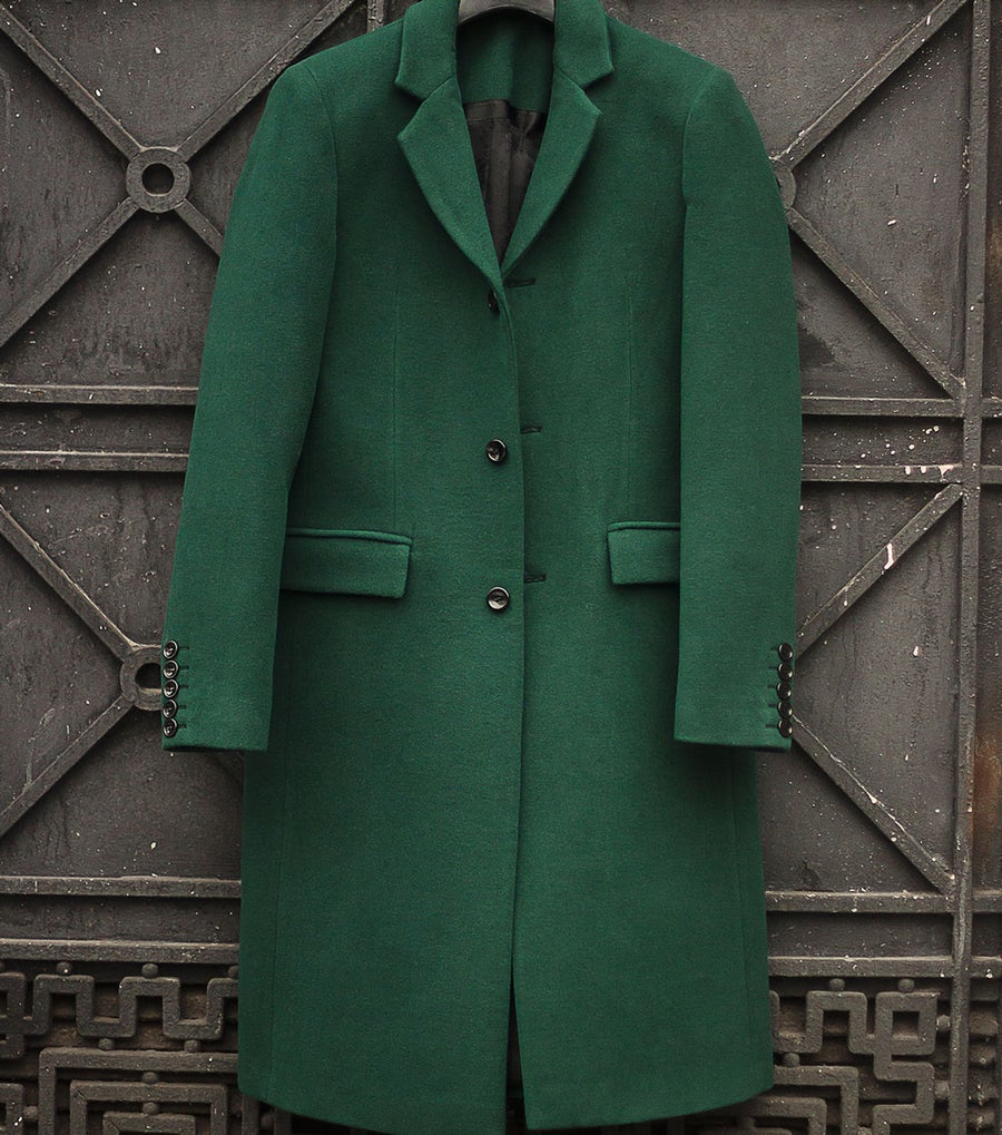 Image of LIMITED EDITION | Dartmouth Green Wool-Blend Coat