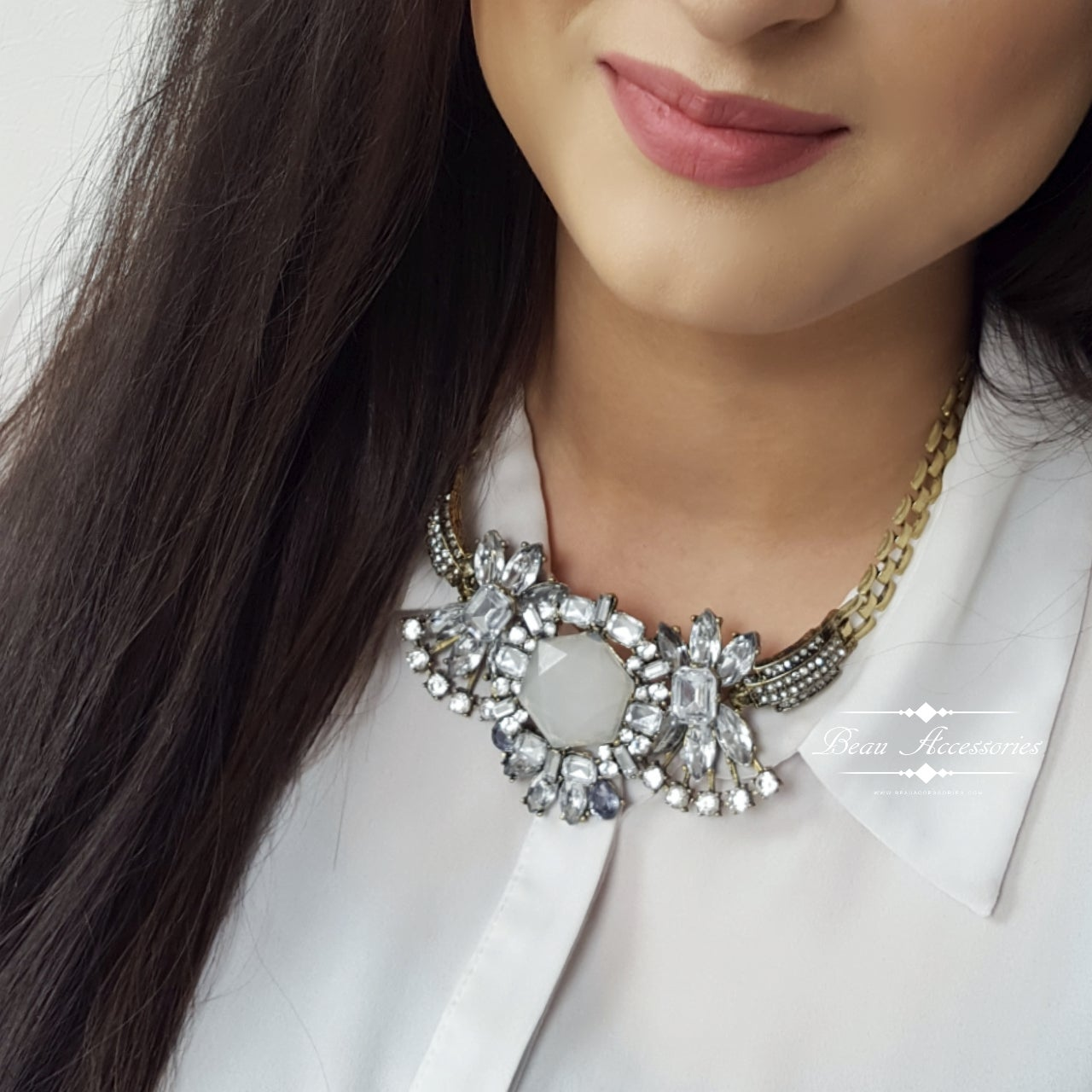 Image of White Crystal Necklace