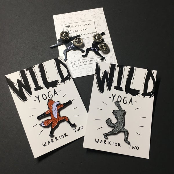 Image of WILD YOGA Lapel Pins