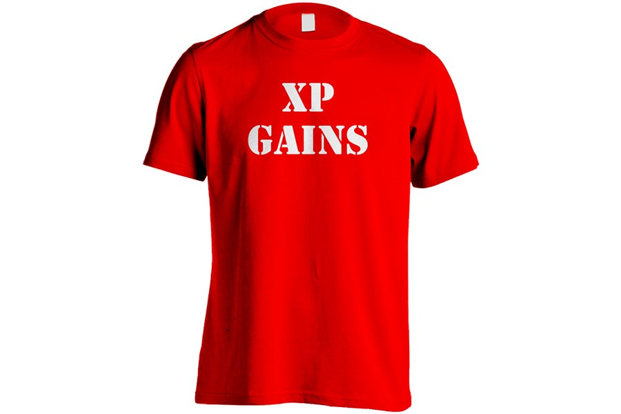 """Image of XP Gains """"Red"""" T-Shirts"""