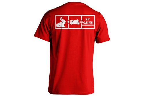 "Image of XP Gains ""Red"" T-Shirts"