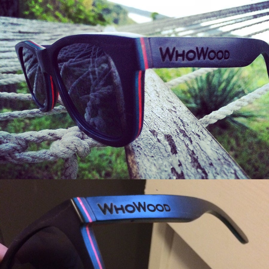 Image of WhoWood™ x Skate Handmade Sunglasses Polarized -Black