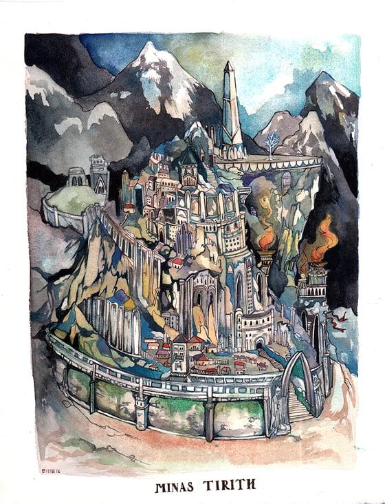 Image of Minas Tirith Print