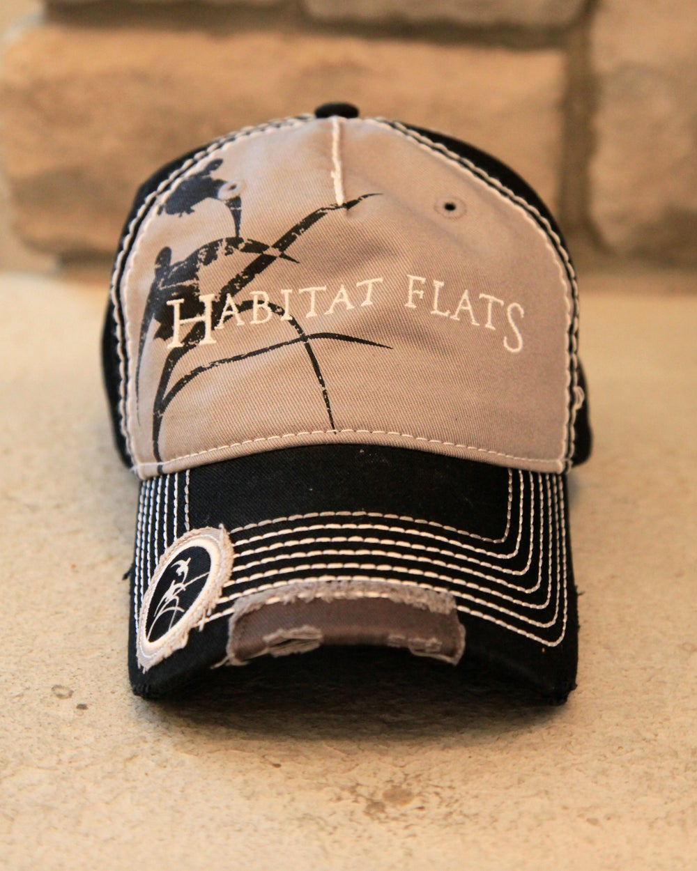 Image of Black & Gray Graphic Hat