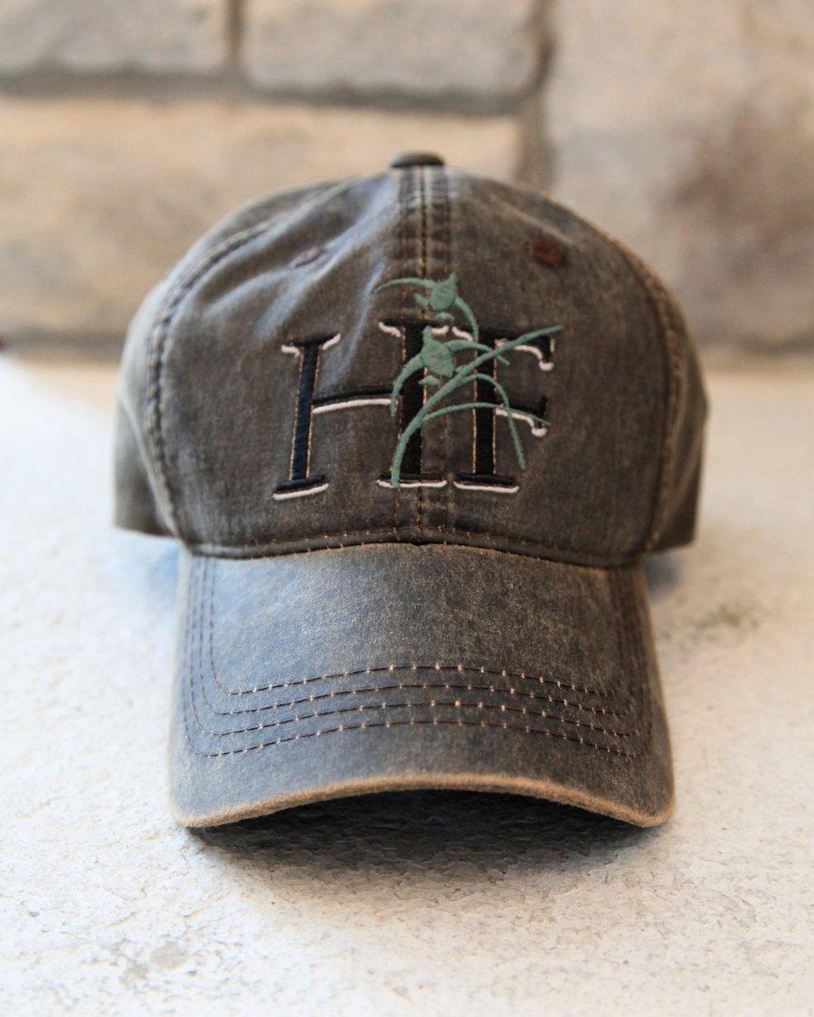 Image of Habitat Flats Black Logo Wax Canvas Hat