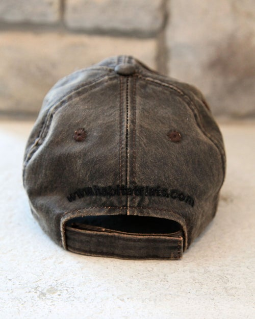 Image of Habitat Flats Black Logo Wax Canvas Hat