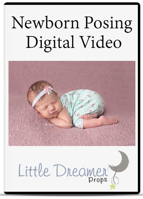 Image of Newborn posing Video instant download