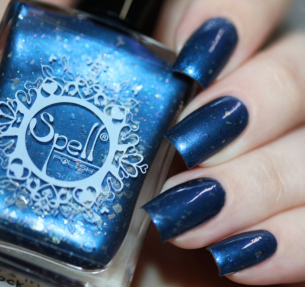 Image Of Stars In Our Pockets Navy Blue Chrome W Silver And Multichrome