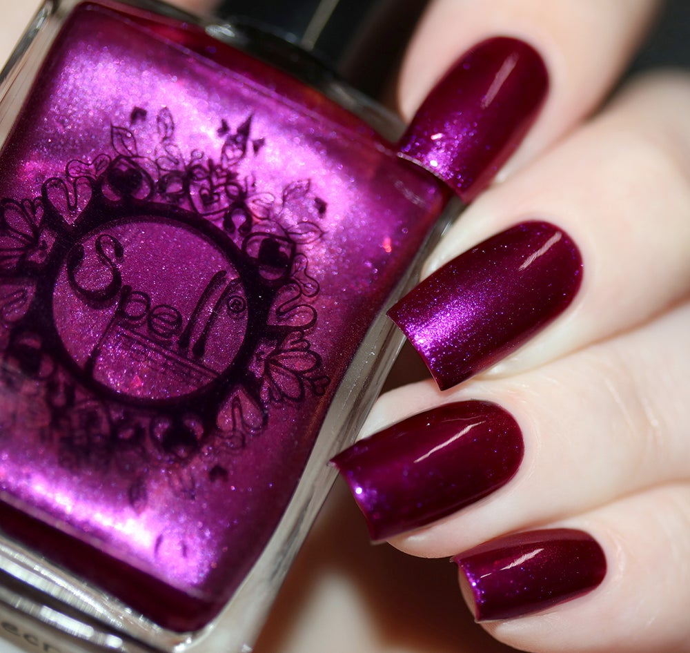 Untold Secrets~ deep red-violet-orange duochrome w/iridescent flakes ...