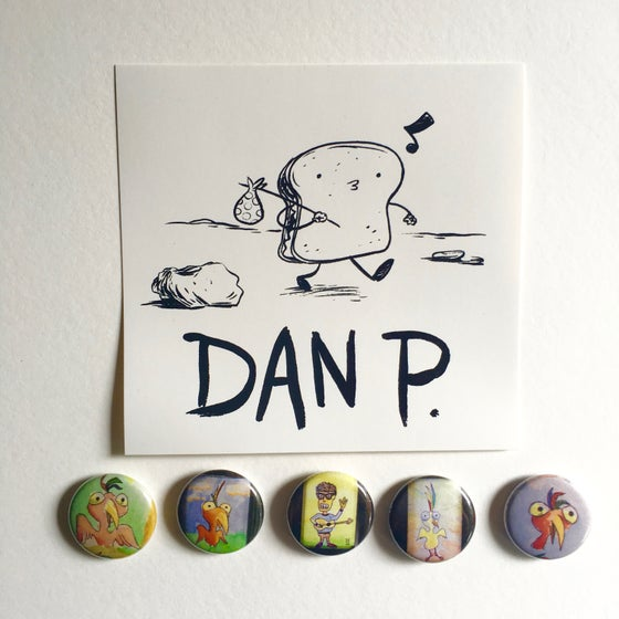 Image of Limited Edition Art Button Pack # 3