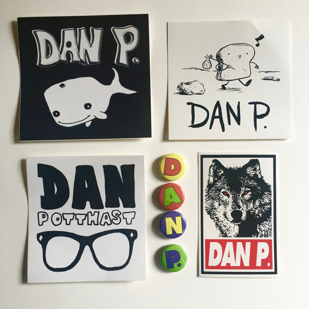 Image of The Dan P. Button/Sticker Pack #1