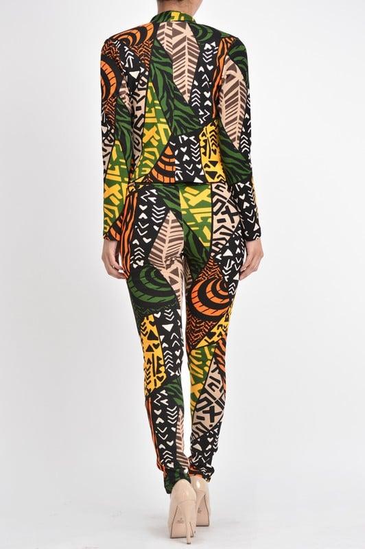 Image of Printed Pants Suit