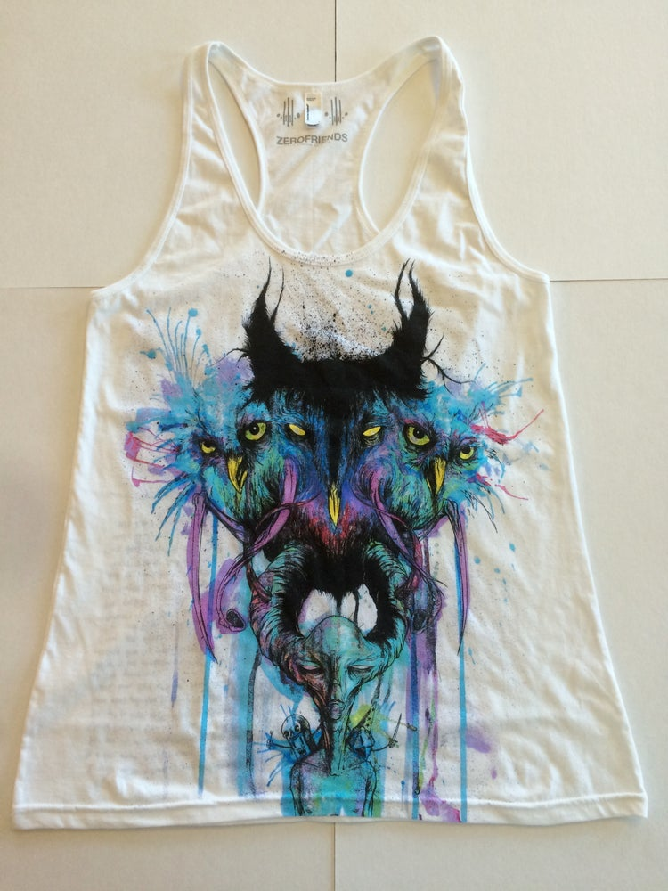 Image of Owlex | By Alex Pardee | Girly Tank Top