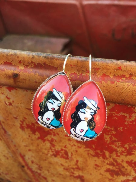 Image of Boucles d'oreilles Pin-Up