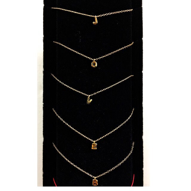 Image of Baby Initial Choker (gold only)