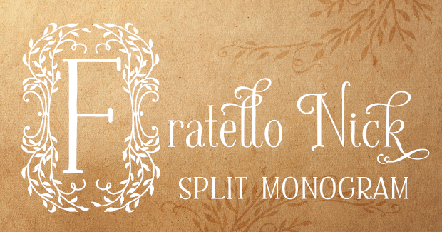 Image of Fratello Nick Split Monogram