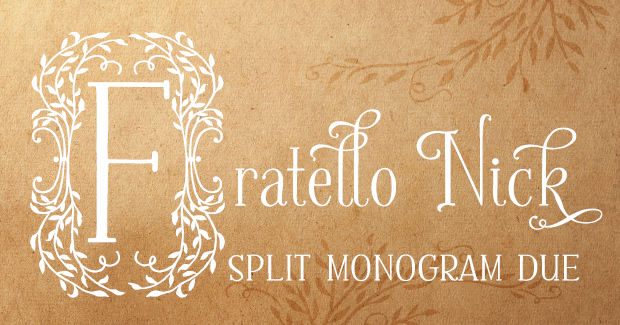 Image of Fratello Nick Split Monogram Due