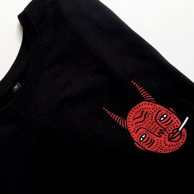 Image of Black Devil Head - Unisex T - By Polly Nor