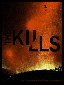 Image of The Kills poster Santa Ana CA. 4/19/16