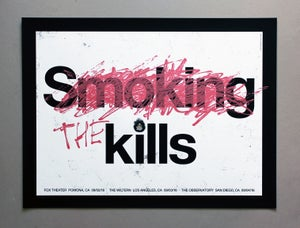 Image of The Kills 2016 tour poster PINK