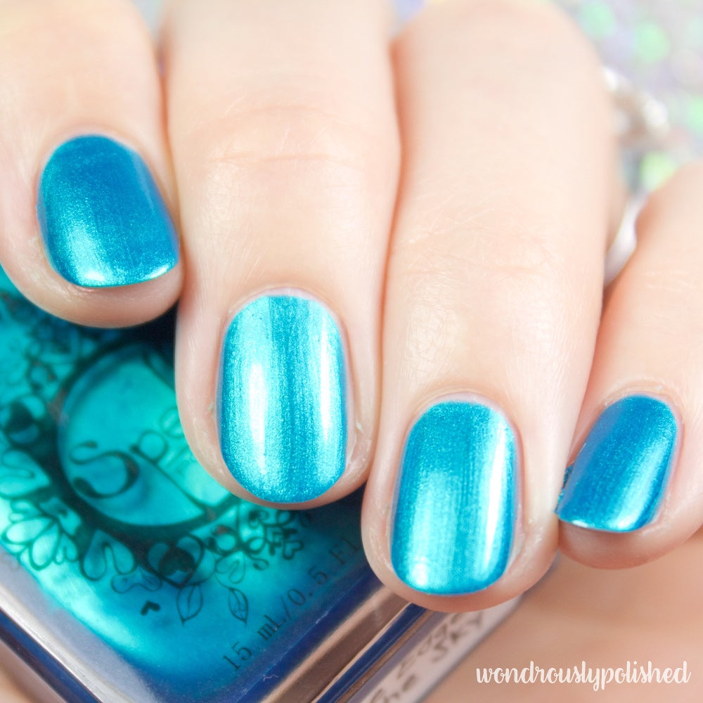 The Edge of the Sky~ deep teal/turquoise/blue chrome nail polish ...