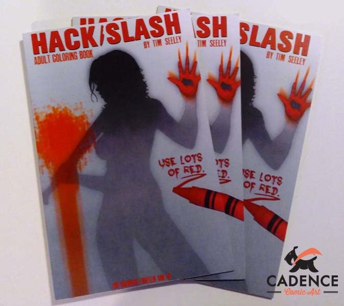 Image of Hack/Slash Adult Coloring Book by Tim Seeley