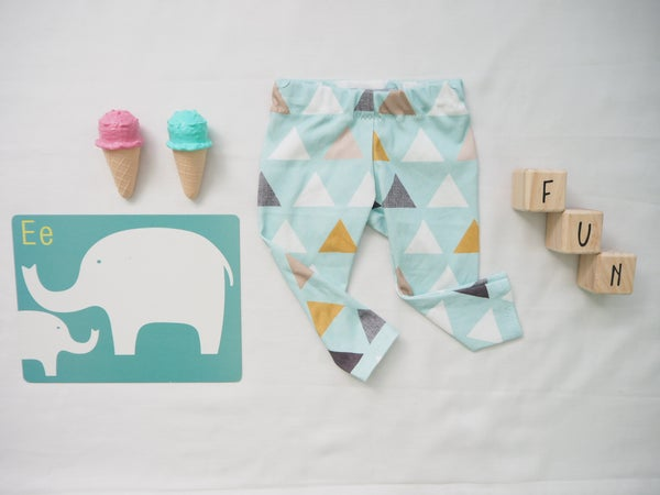 Image of ORGANIC COTTON Minty triangle leggings size 0-3m
