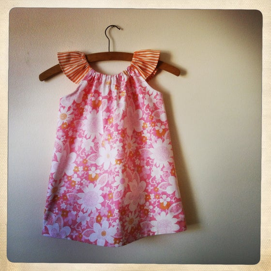 Image of PINK GUAVA peasant dress - size 3