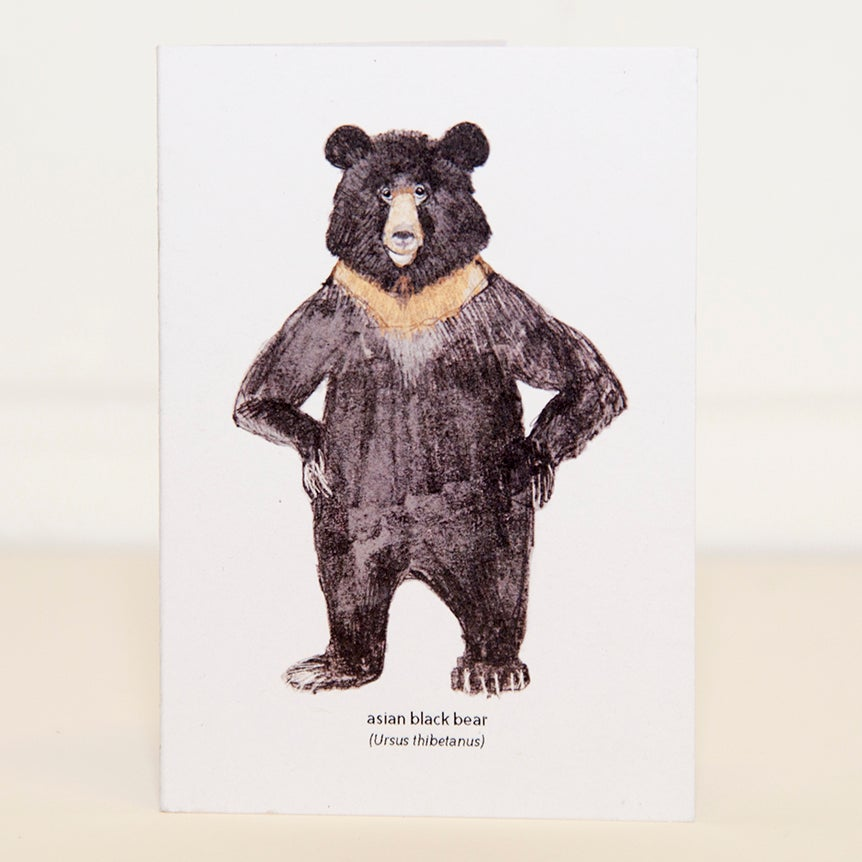 Image of Asian Black Bear Mini Card