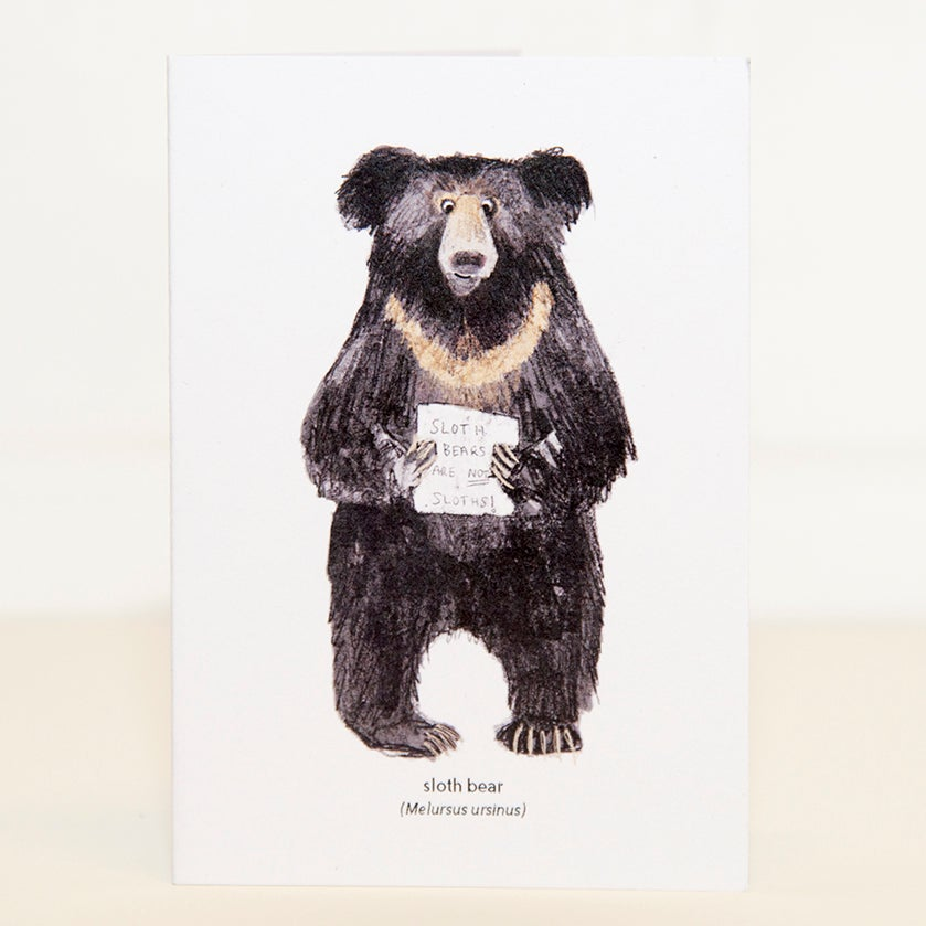 Image of Sloth Bear Mini Card