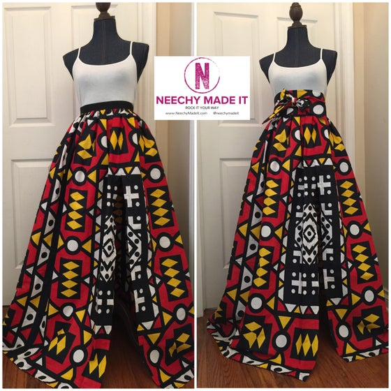 Image of Split Maxi Skirt and Belt