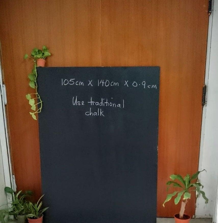 Image of 140cm X 105cm X 0.9cm Frameless Chalkboard