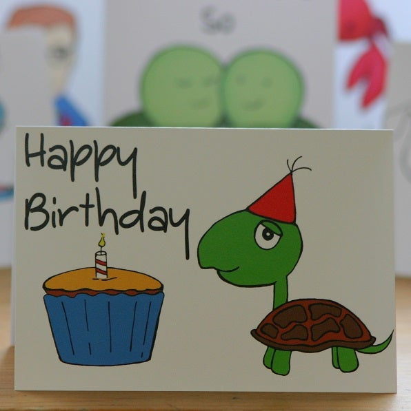 Image of Happy Birthday Turtle (approx $5.40)