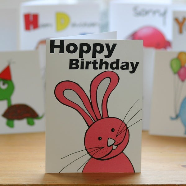 Image of Hoppy Birthday Rabbit (approx $5.40)