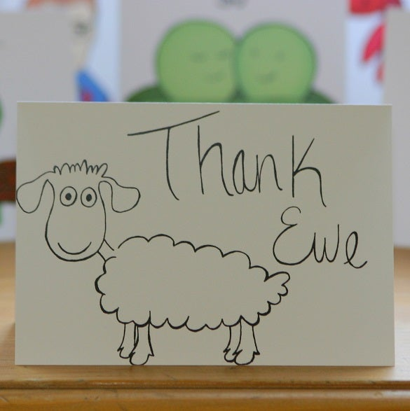 Image of Thank Ewe (approx $5.40)