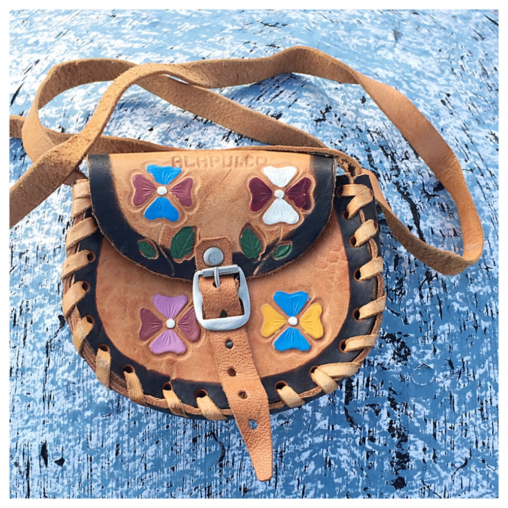 Image of Vintage Hand tooled Mini Crossbody