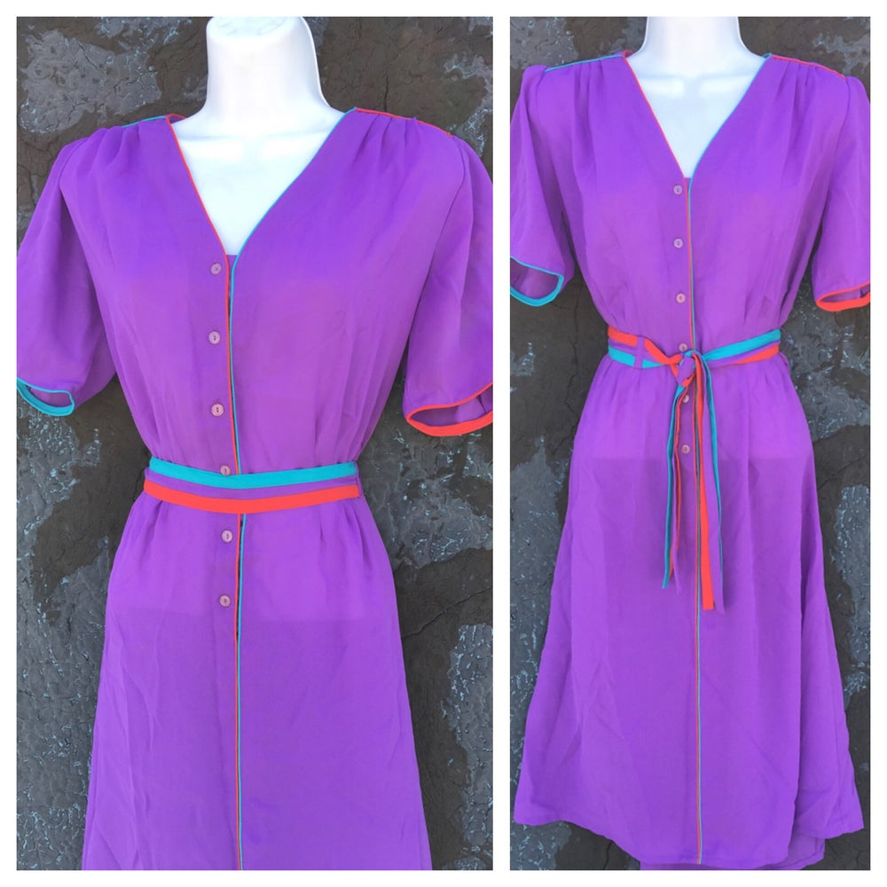 Image of Cool Colorblock Vintage Shirt Dress