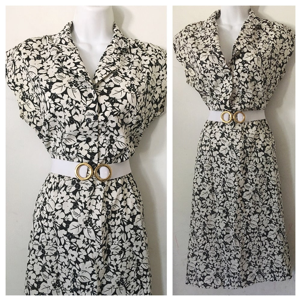 Image of Crisp Foliage Vintage Dress