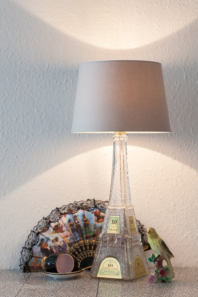 Image of Glass Eiffel Tower Table Lamp