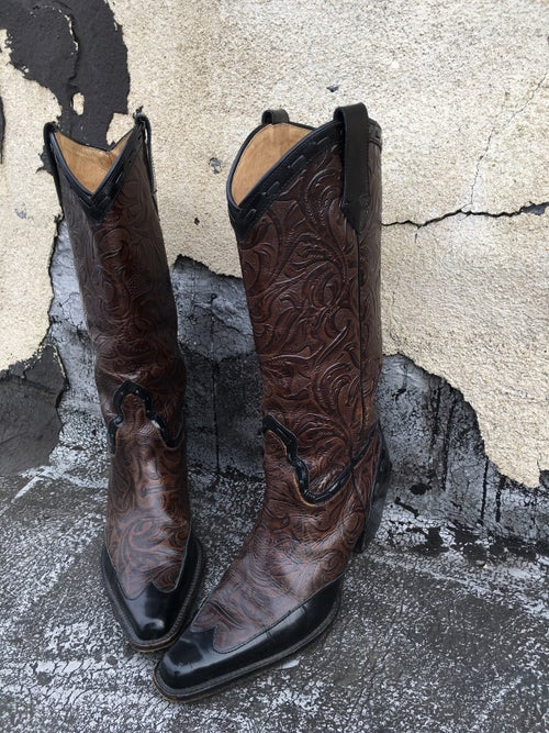 Image of Embossed Leather Cowboy Boots
